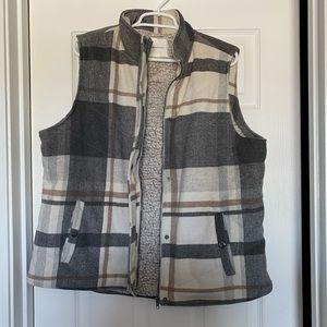 Plaid winter vest